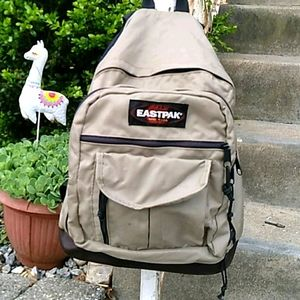 Eastpak Vintage Leather & Nylon Backpack